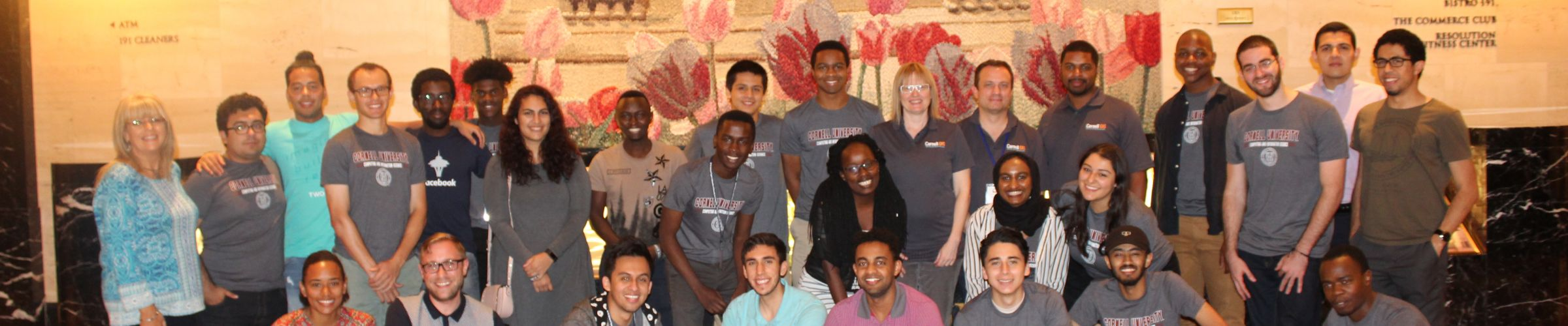 group of diversity students at Tapia conference