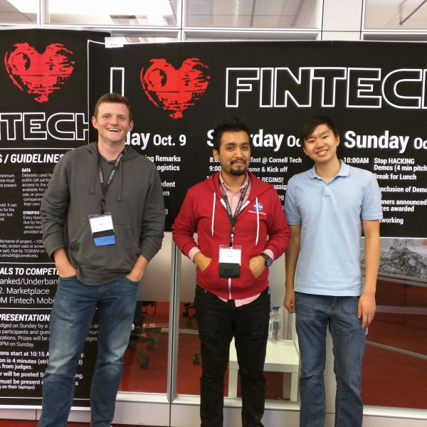 photo of three people at fintech