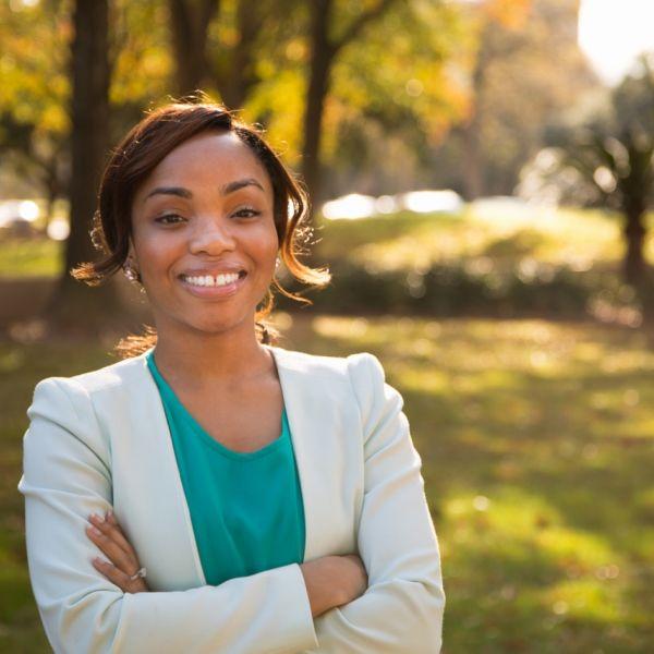 Nwamaka Imasogie smiling
