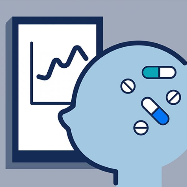 A graphic illustrating how smart devices can help monitor and manage behavioral health