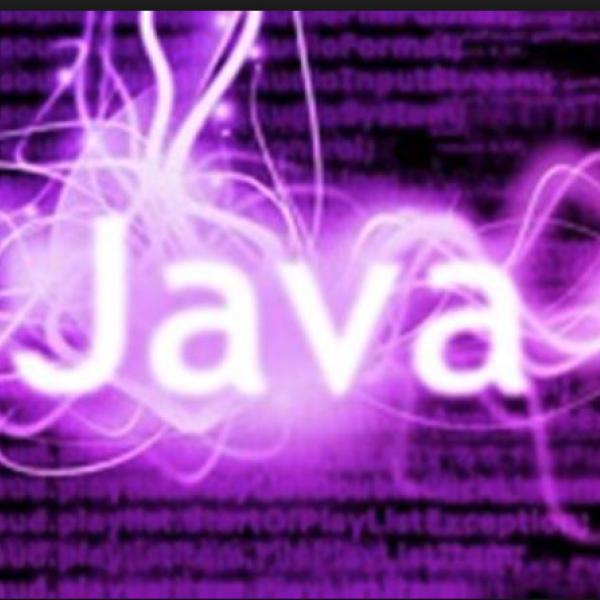 "purple ""Java"" graphic"