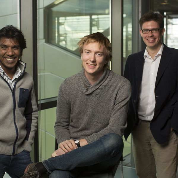 photo of three Cornell faculty members