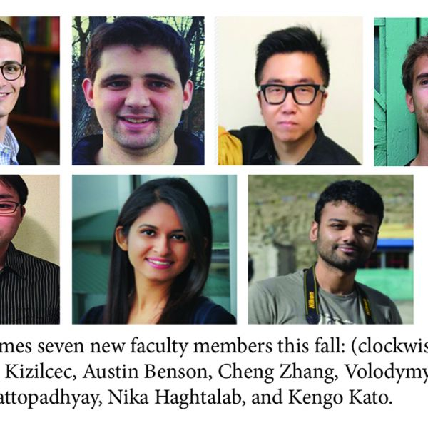 headshots of seven new CIS faculty