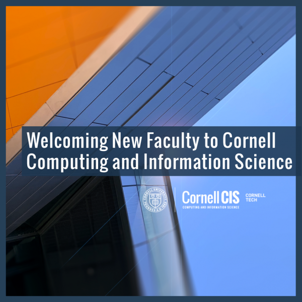 Welcoming New Faculty to Computing and Information Science
