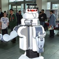 Robot Greets Presenters