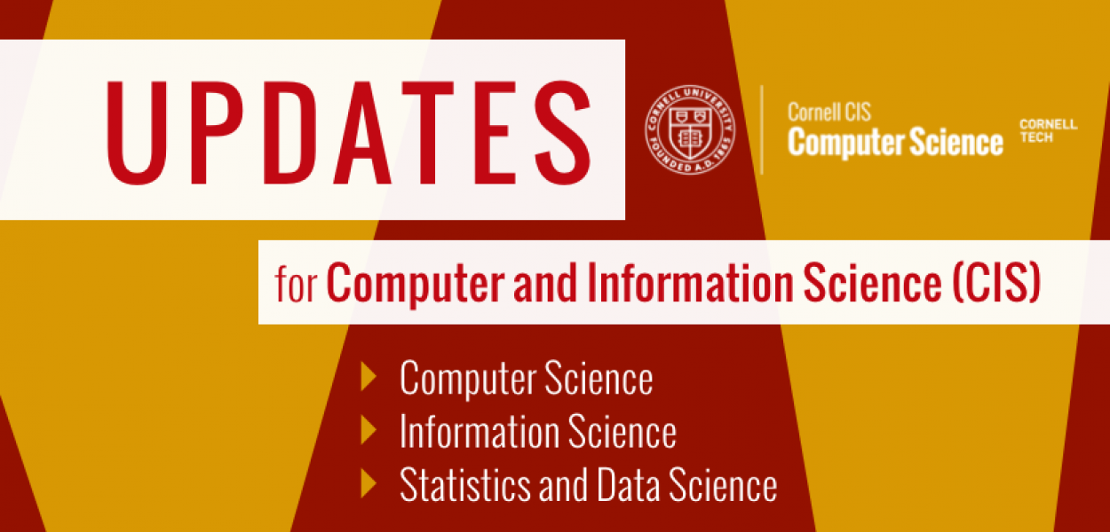 Updates: please click here for information updates and ongoing adjustments to the Spring 2020 semester for all Computing and Information Science departments.