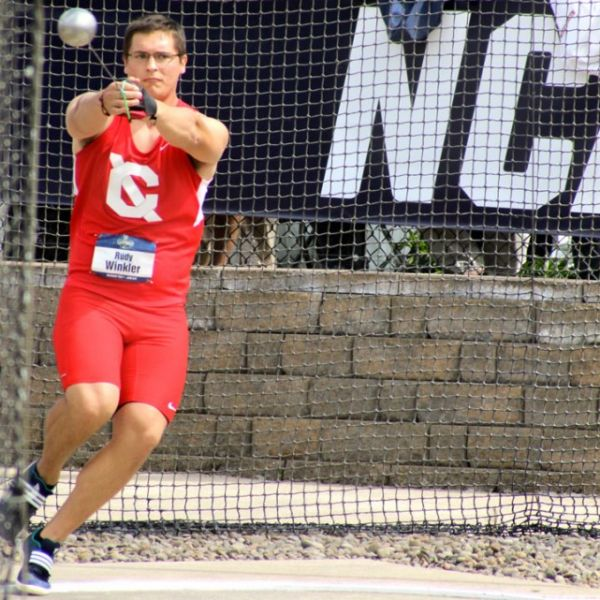 Rudy Winkler throws the hammer at the 2016 NCAA Track & Field Championships.