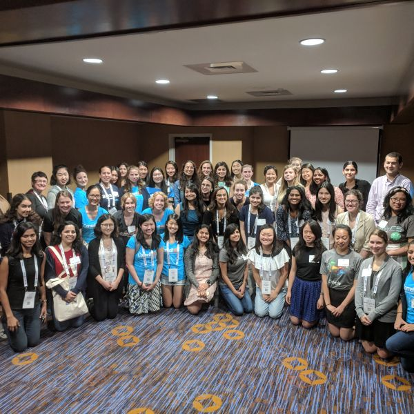 photo of attendees at alumni networking event at GHC