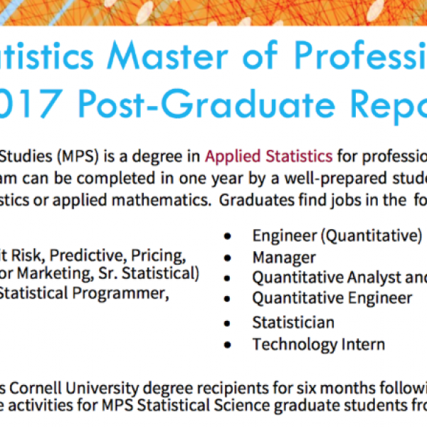 2017 post-graduate report for MPS Statistics grads