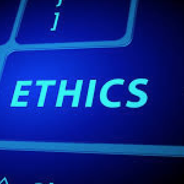 ethics on keyboard