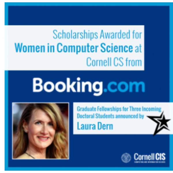 Laura Dern announces booking.com scholarships