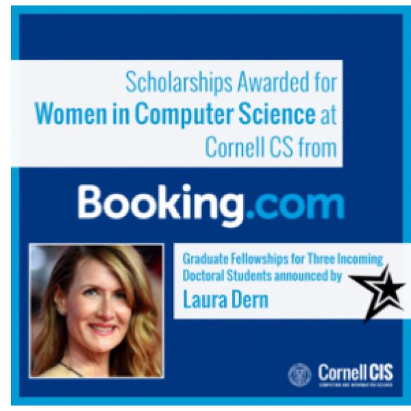 Laura Dern announces booking.com scholarships