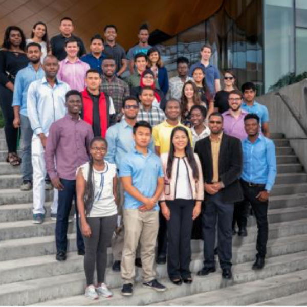2018 SoNIC program participants on steps of Gates Hall