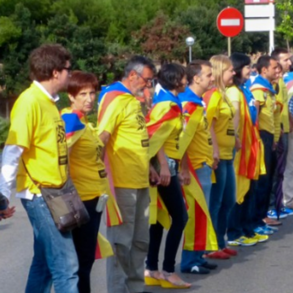 Catalan Independence day supporters