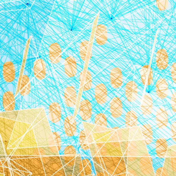 blue and orange lines graphic