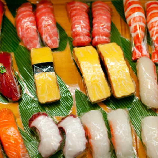 photo of fake sushi