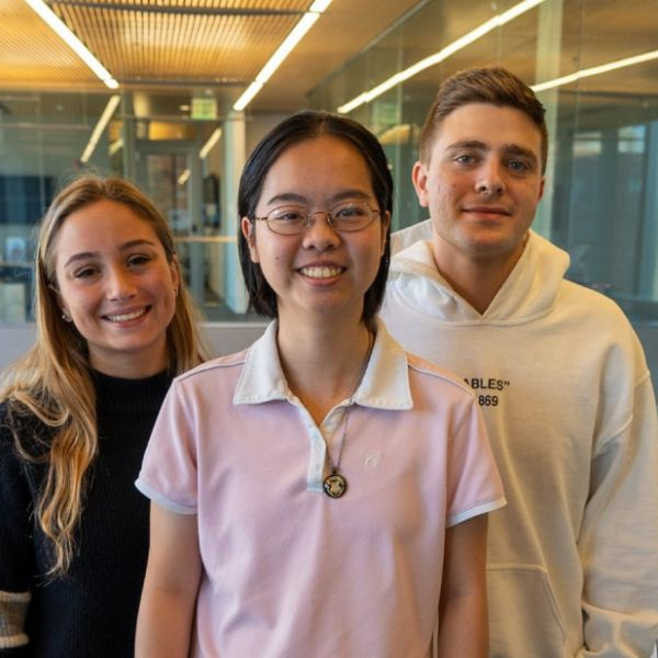 The Quarantine Buddy team: Jordyn Goldzweig, Alisa Lai, Sam Brickman